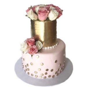 Торт цветочный блеск