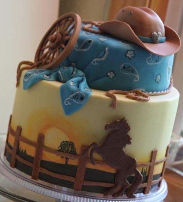 """Детский торт """"Отдых на ранчо"""""""